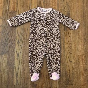 Carter's Leopard Print Fleece Snap-Up Sleep & Play